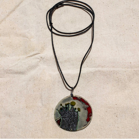 Green Flowers Necklace